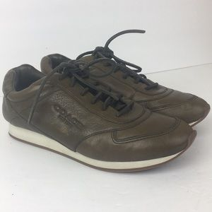 Coach Raeann Soft Vintage Leather Lace Sneakers 7